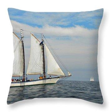 Sailing The Open Seas Throw Pillow by Allen Beatty