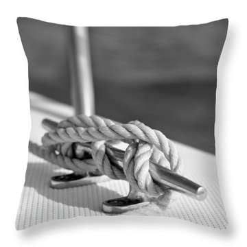 Sailor's Knot Square Throw Pillow by Laura Fasulo