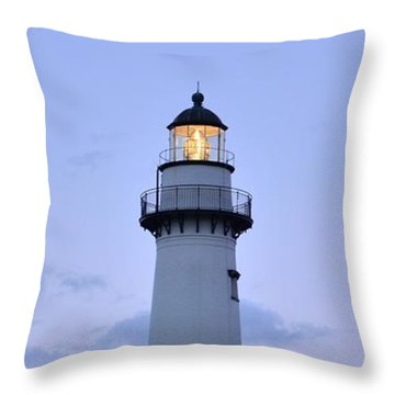 Saint Simons Lighthouse Throw Pillow by Bob Sample