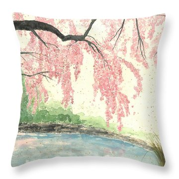 Sakura II Throw Pillow