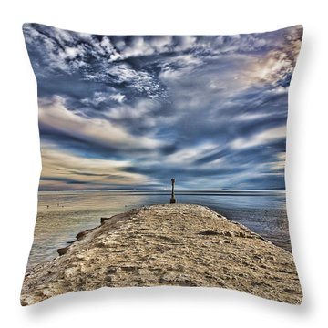 Salt Pier Salton Sea Throw Pillow