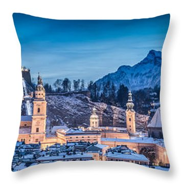 Salzburg Winter Romance Throw Pillow