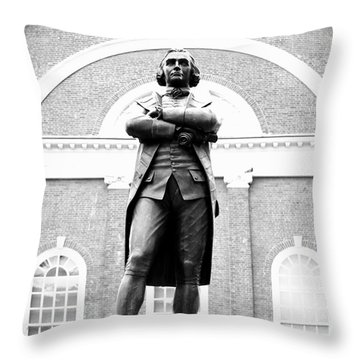Samuel Adams Statue, State House Boston Ma Throw Pillow