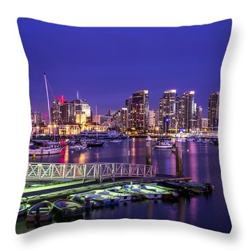 This Is San Diego Harbor Throw Pillow
