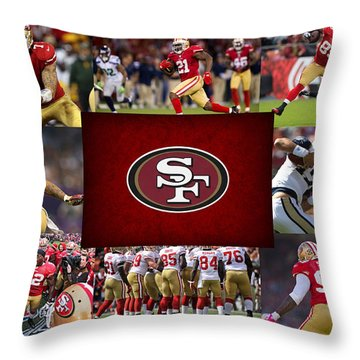 San Francisco 49ers Throw Pillow