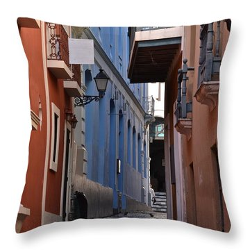 San Francisco Chapel Alley Throw Pillow