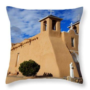 San Francisco De Asis Taos New Mexico 3 Throw Pillow by Bob Christopher