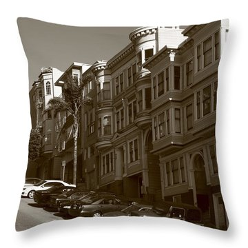 San Francisco Hills  Throw Pillow