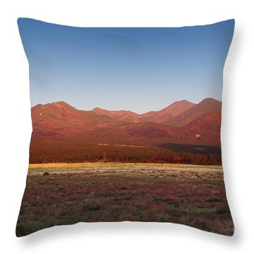 San Francisco Peaks Sunrise Throw Pillow