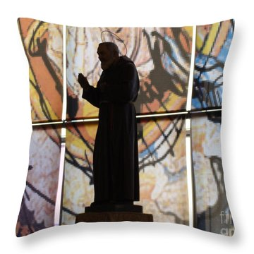 San Pio Throw Pillow