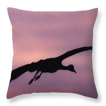 Sandhill Crane Throw Pillow by Steven Ralser