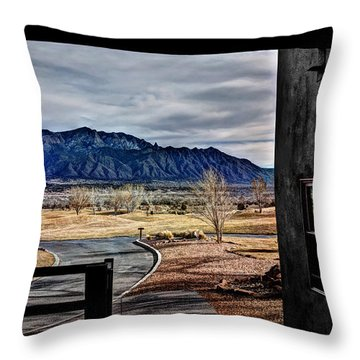 Sandia Mountains Throw Pillow