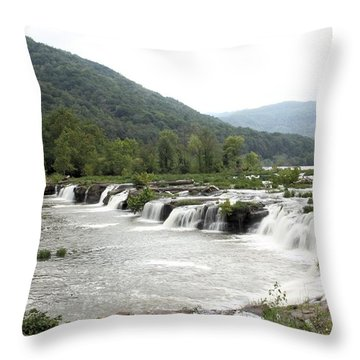 Sandstone Falls Throw Pillow