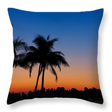 Sanibel Island Florida Sunset Throw Pillow
