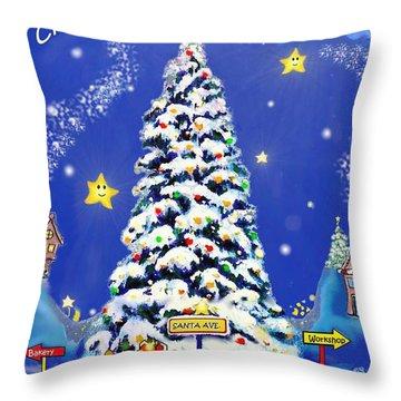 Santa Avenue Throw Pillow