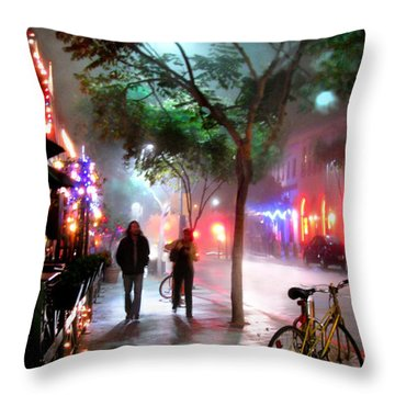 Throw Pillow featuring the photograph Santa Monica Secrets by Jennie Breeze