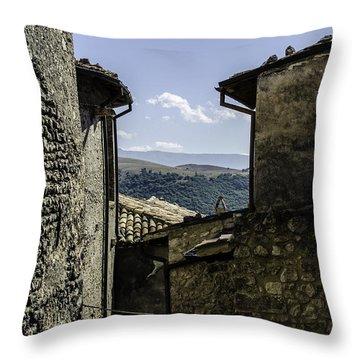 Santo Stefano Di Sessanio - Italy  Throw Pillow