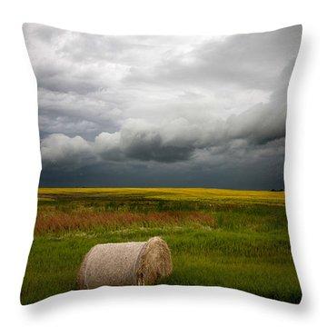 Saskatchewan Storm  Throw Pillow