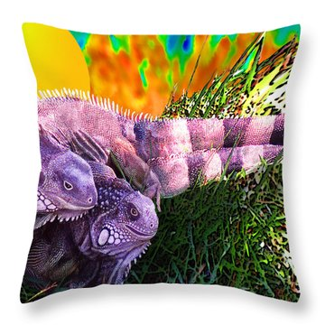 Saurian Love Dance Throw Pillow