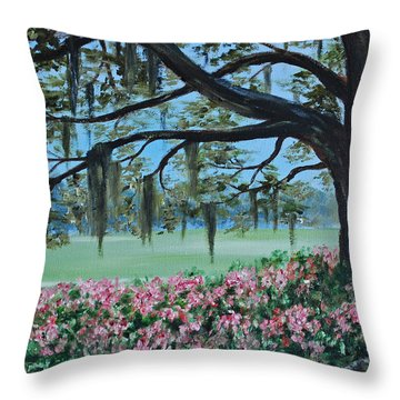 Savannah Spring Throw Pillow