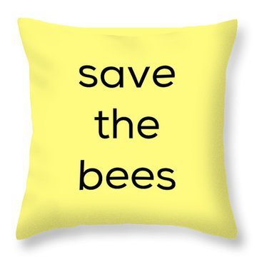 Throw Pillow featuring the photograph Save The Bees by Kim Fearheiley