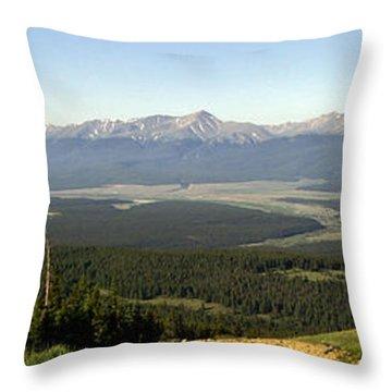 Sawatch Panoramic Throw Pillow by Jeremy Rhoades
