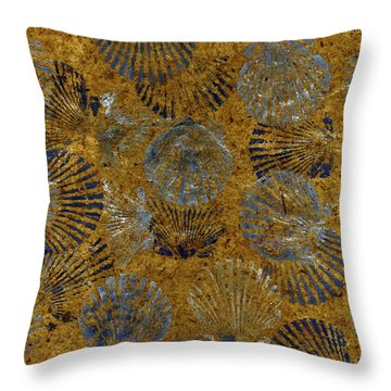 Scallops On Thai Banana Paper   Throw Pillow
