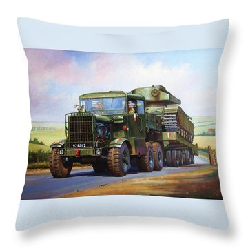 Scammell Explorer. Throw Pillow by Mike  Jeffries