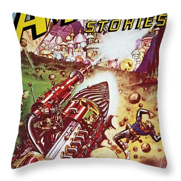 Sci-fi Magazine Cover 1941 Throw Pillow by Granger