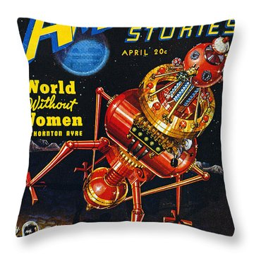 Science Fiction Cover 1939 Throw Pillow by Granger