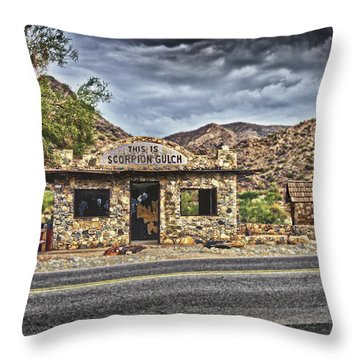 Scorpion Gulch Throw Pillow