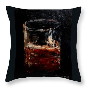 Throw Pillow featuring the painting Scotch Neat by Fred Wilson