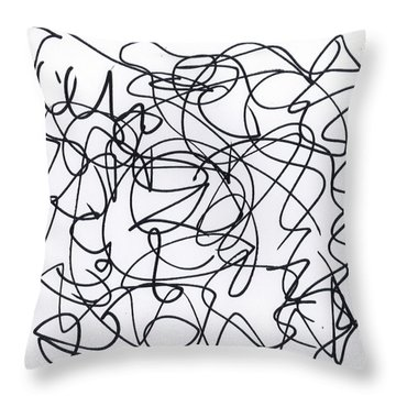 Scribble For 'eavesdropping' Throw Pillow