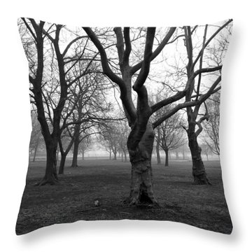 Seaside By The Tree Throw Pillow