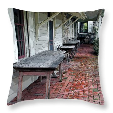 Secluded Portico Throw Pillow