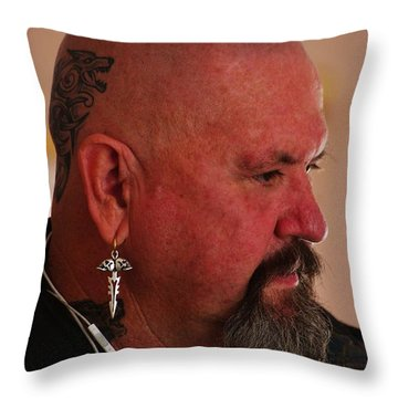 Self Portrait Throw Pillow by Blair Stuart
