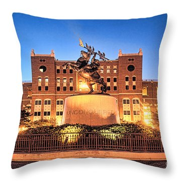 Seminole Fire - Unconquered Throw Pillow