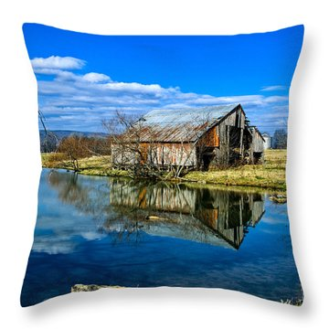 Sequatchie Valley Barn Throw Pillow