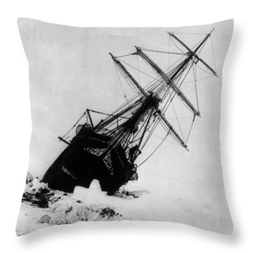 Shackletons Endurance Trapped In Pack Throw Pillow