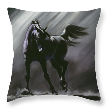Shadow Dancer Throw Pillow by Kim McElroy