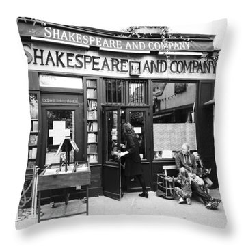 Shakespeare And Company Bookstore In Paris France Throw Pillow