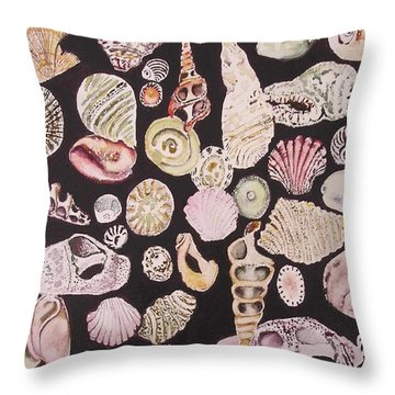 Shells By C . 1.3 Throw Pillow by Cheryl Miller