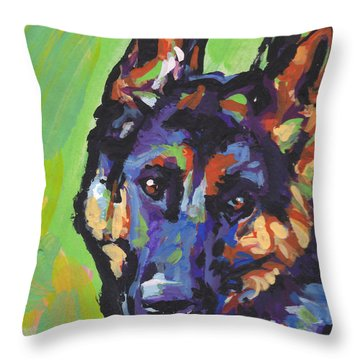 Sheppy Throw Pillow by Lea S