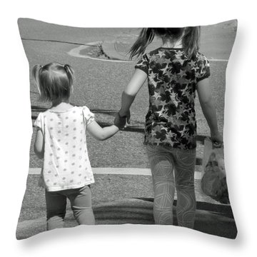 Throw Pillow featuring the photograph She's My Sister by E Faithe Lester