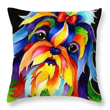 Shih Tzu Throw Pillow by Sherry Shipley