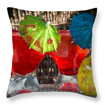 Shirley Temple Cocktail Throw Pillow