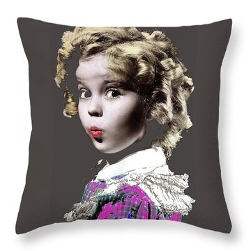 Shirley Temple Publicity Photo Circa 1935-2014 Throw Pillow by David Lee Guss