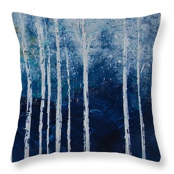 Shivver Throw Pillow by Linda Bailey