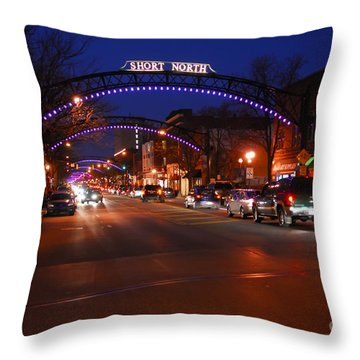 D8l353 Short North Arts District In Columbus Ohio Photo Throw Pillow