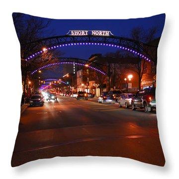 D8l353 Short North Arts District In Columbus Ohio Photo Throw Pillow